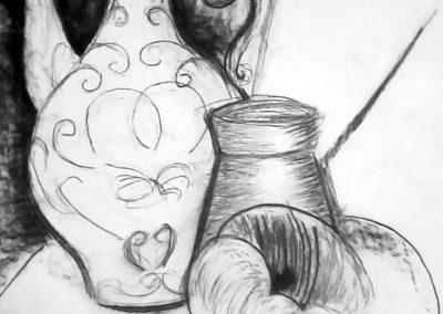 Курсове за ученици - етюд на натюрморт с молив
