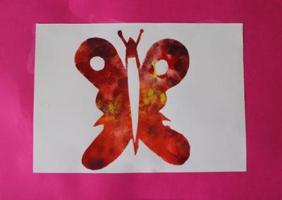 Графични техники за деца- цветен отпечатък