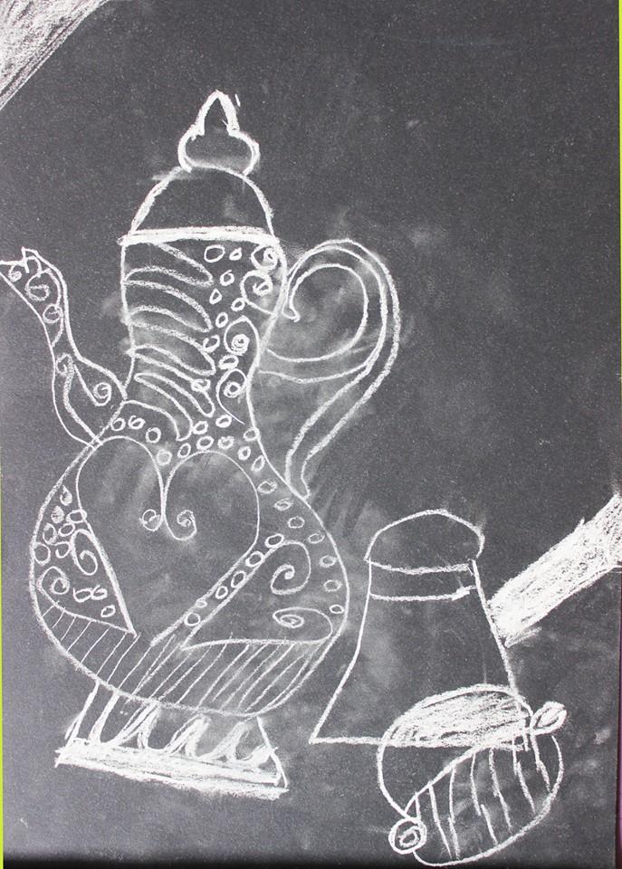 Курсове за деца - рисунка с бяла креда