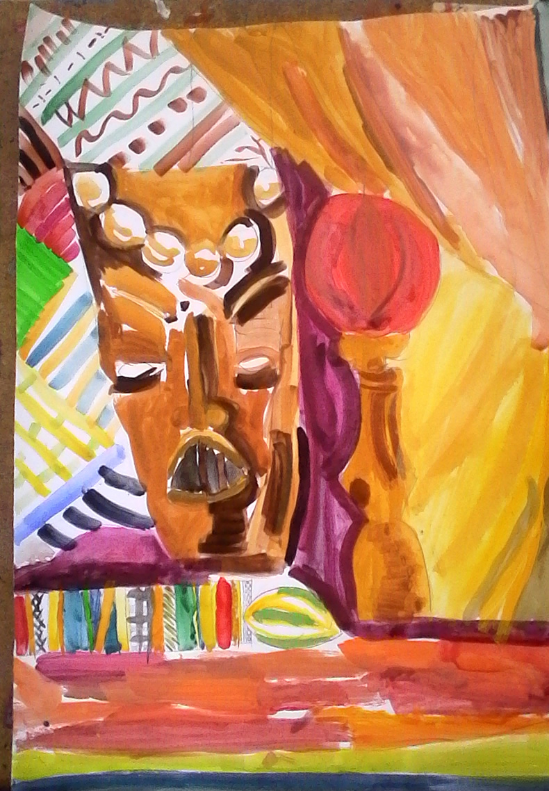 naturmort s afrikanskla maska i limon - Eva - 9