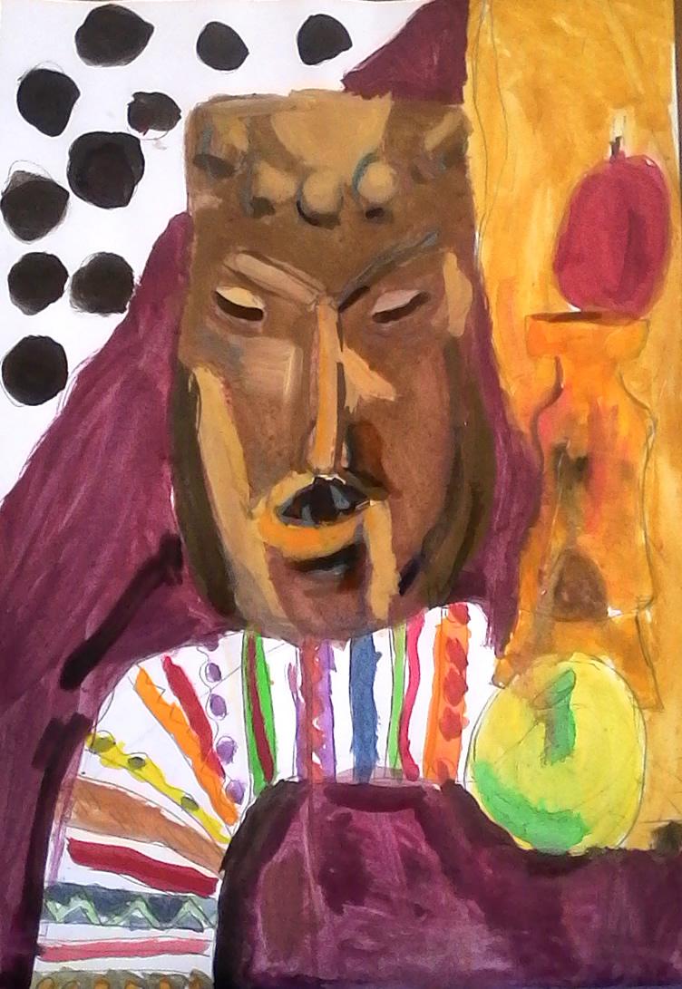 naturmort s afrikanskla maska i limon - Rali - 7