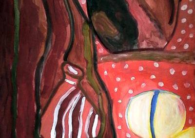 Курсове за деца  - натюрморт със земни цветове - Маргарита 10 г.