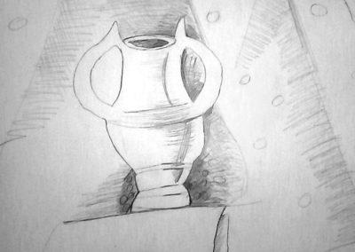 натюрмор с глиенн съд и топка ог въжета - Йоана-8
