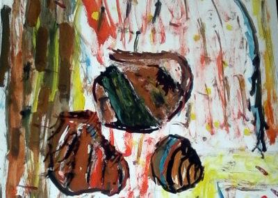 натюрморт със земни цветове - Александър Узунов 11 г.