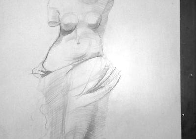 Рисунка с молив на копие на древногръцка статуя - Мария Тодорска - 13 г.