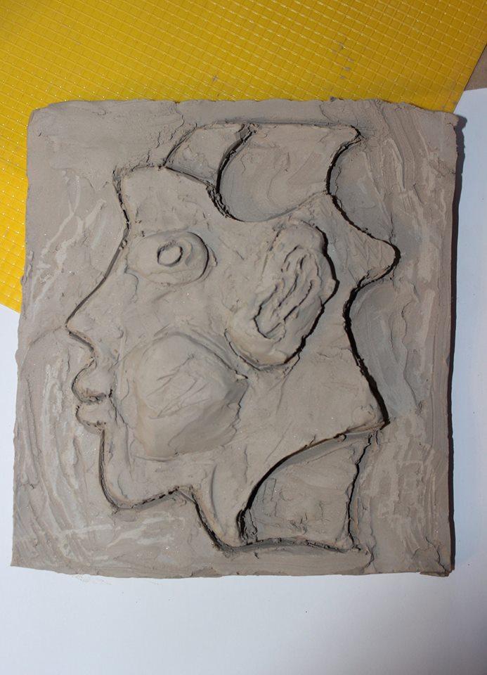 Арт работилница с глина - релеф