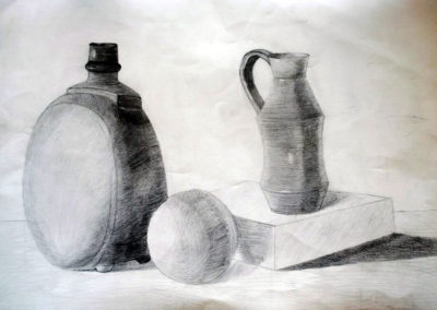 Етюд на натюрмарт с молив