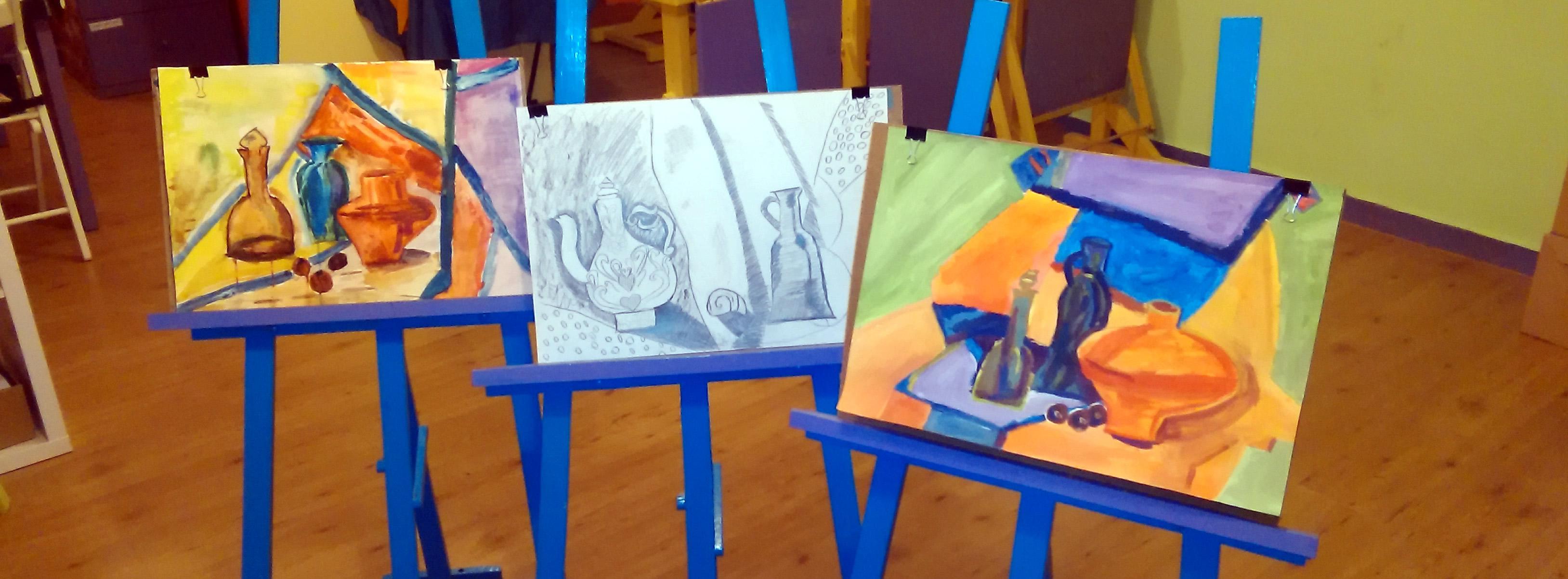 Графични и живописни творби на деца от студиото