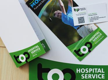 Графичен дизайн на рекламни материали за Top Hospital Services