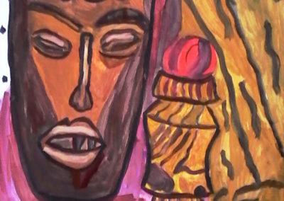 nturmort s afrikanskla maska i limon - Margarita - 10
